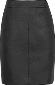 Topshop , Womens Pu Short Pencil Skirt