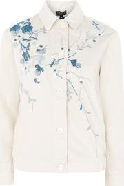 Topshop , Womens Embroidered Shacket