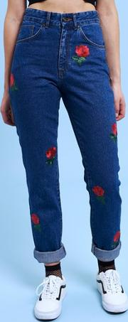 The Ragged Priest , Womens Thorn Mom Jeans By