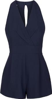 Love , Womens Cross Bust Playsuit By