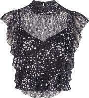 Tfnc , Womens Daisy Mesh Top By