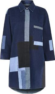 Waven , Womens Jacket Dress With Patchwork Detail By
