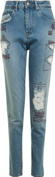 Waven , Womens Mom Jeans With High Waist And Relaxed Leg By