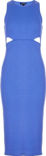 Topshop , Womens Cut Out Ribbed Bodycon Dress