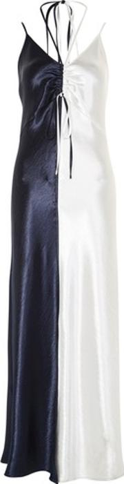 Topshop , Womens Colour Block Satin Maxi Dress