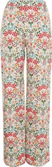 Love , Womens Cornflower Print Wide Leg Trousers By