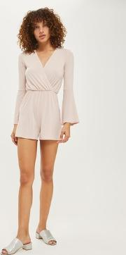 Oh My Love , Womens Flared Sleeve Playsuit By