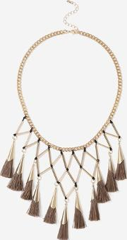 Topshop , Womens Tassel Collar Necklace
