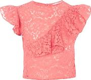 Hope And Ivy , Womens Lace Crop Top By Hope & Ivy