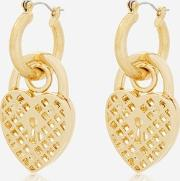 Skinny Dip , Womens Aida Chunky Padlock Earrings By Skinnydip