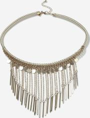 Topshop , Womens Chain Drop Collar Necklace