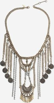 Topshop , Womens Coin Drop Ethnic Collar Necklace