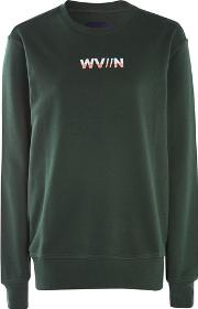 Waven , Womens Embroidered Long Sleeve Sweatshirt By