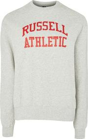 Russell Athletic , Womens Logo Crew Neck Sweatshirt By