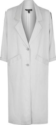 Topshop , Womens Washed 80's Duster Coat