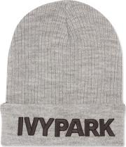 Ivy Park , Womens Ribbed Logo Beanie Hat By