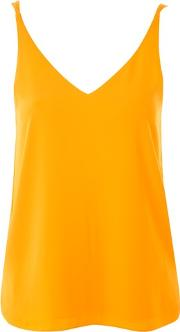Topshop , Womens Tall Double Strap V Neck Camisole Top