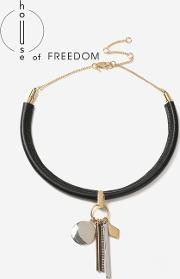Topshop , Womens House Of Freedom Charm Torc Necklace