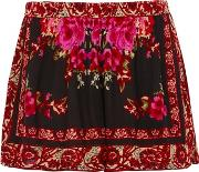 Band Of Gypsies , Womens Rose Mix Print Shorts By