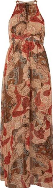 Wyldr , Womens Paint The Sky Paisley Print Maxi Dress By