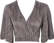 Oh My Love , Womens Pleated Batwing Top By