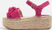 Topshop , Womens Wendy Bow Wedge Espadrilles