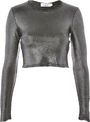 Oh My Love , Womens Metallic Crop Top By