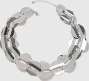 Topshop , Womens Linked Disc Collar Necklace