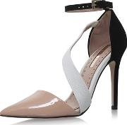 Miss Kg , Womens Arielle Nude High Heel Sandals By