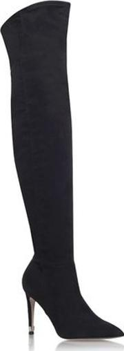 Miss Kg , Womens Willow Black High Heel Knee Boots By