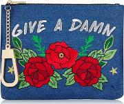 Skinny Dip , Womens Give A Damn Clutch By Skinnydip