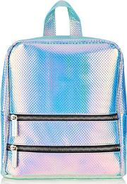 Skinny Dip , Womens Holo Cat Backpack By Skinnydip