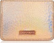 Skinny Dip , Womens Rose Shimmer Card Holder By Skinnydip