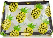 Skinny Dip , Womens Zesty Pineapple Make Up Bag By Skinnydip
