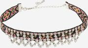 Topshop , Womens Aztec And Rhinestone Choker Necklace