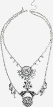 Topshop , Womens Rhinestone Collar Necklace