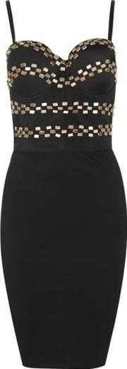 Wyldr , Womens Lie To Me Black Bustier Dress By
