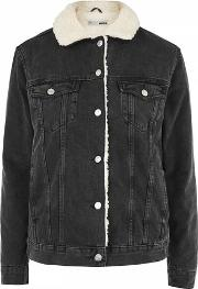 Topshop , Womens Tall Oversized Borg Jacket