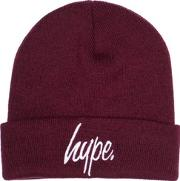 Hype , Womens Burgundy Classic Beanie By
