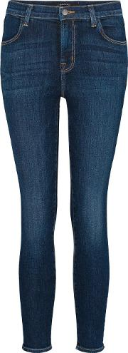 J Brand Jeans , Alana High Rise Crop In Mesmeric