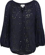 Velvet , Caleigh Top In Navy And Black