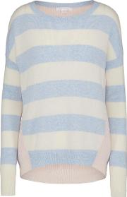 Striped Jumper In Sky And Ivory