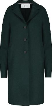 Boxy Coat In Emerald Green
