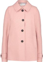 Short Loden Coat In Pastel Pink
