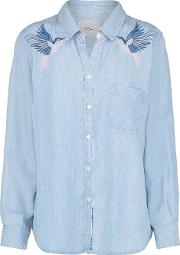 Ingrid Shirt With Hummingbird Embroidery