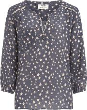 Pyrus , Grace Blouse In Grey Nude Stars