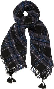 Clan Scarf In Black And Blue