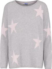 Multi Star Jumper In Grey And Nude