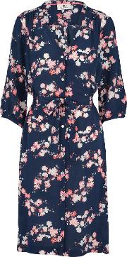 Pyrus , Frankie Dress In Navy Blossoms