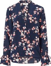 Pyrus , Raven Blouse In Navy Blossom